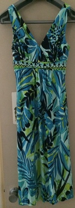 Green Print with Pockets Cotton S8
